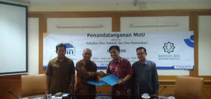 Penandatanganan MoU BAMUIS BNI dengan FIDIKOM UIN Jakarta