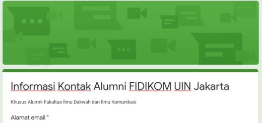 Informasi Alumni FIDIKOM UIN Jakarta