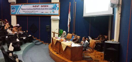 Rapat dosen FIDIKOM UIN Jakarta